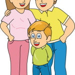 Happy Family Mother Father and son clipart